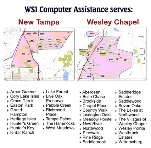 WSICA serves Florida areas of New Tampa, Wesley Chapel, Lutz, and Land 	O' Lakes.